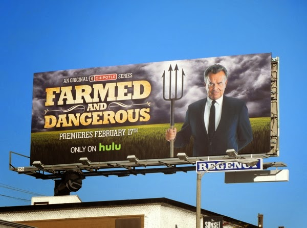 Farmed and Dangerous series premiere billboard