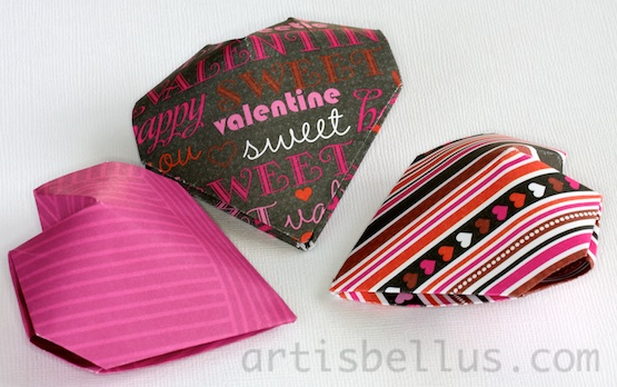 valentine's day origami: heart locket | origami - artis bellus, Ideas