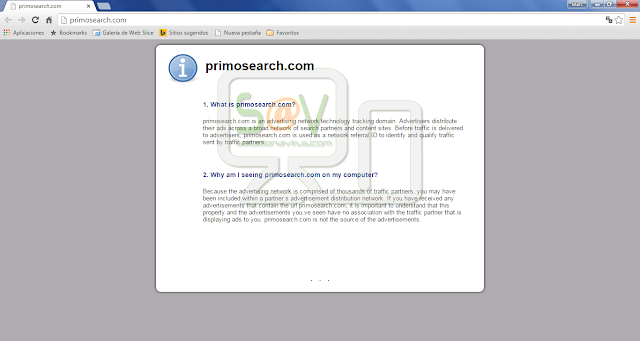 PrimoSearch.com pop-ups
