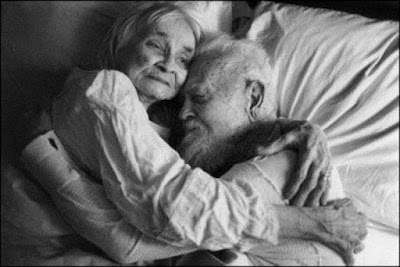 Old couple sleeping picture