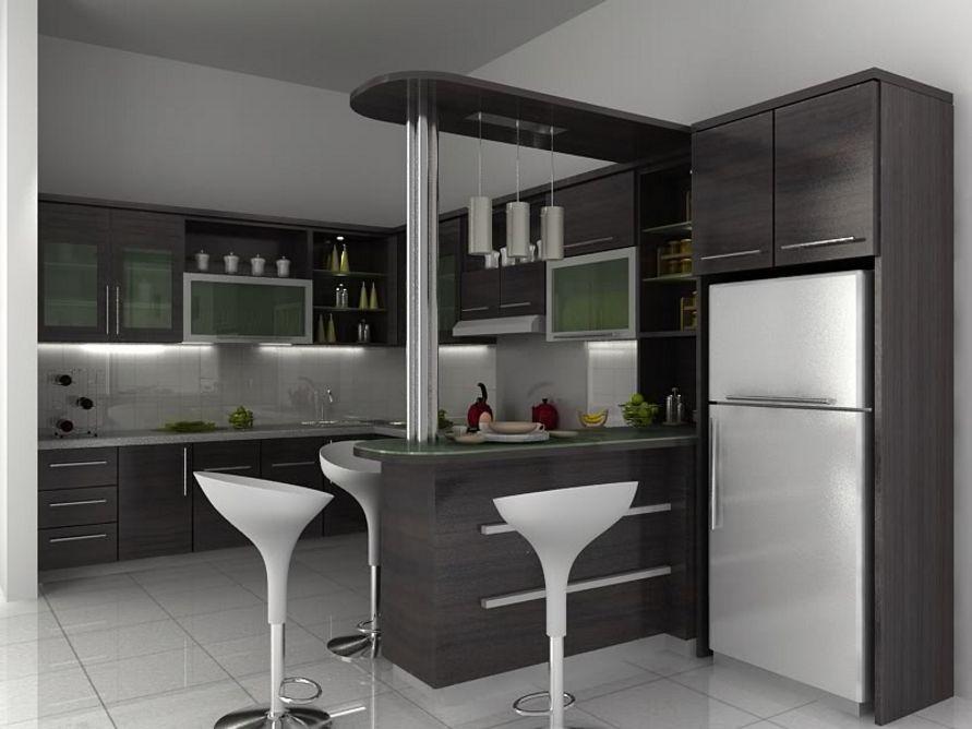 kreasi desain dapur rumah minimalis modern yang indah