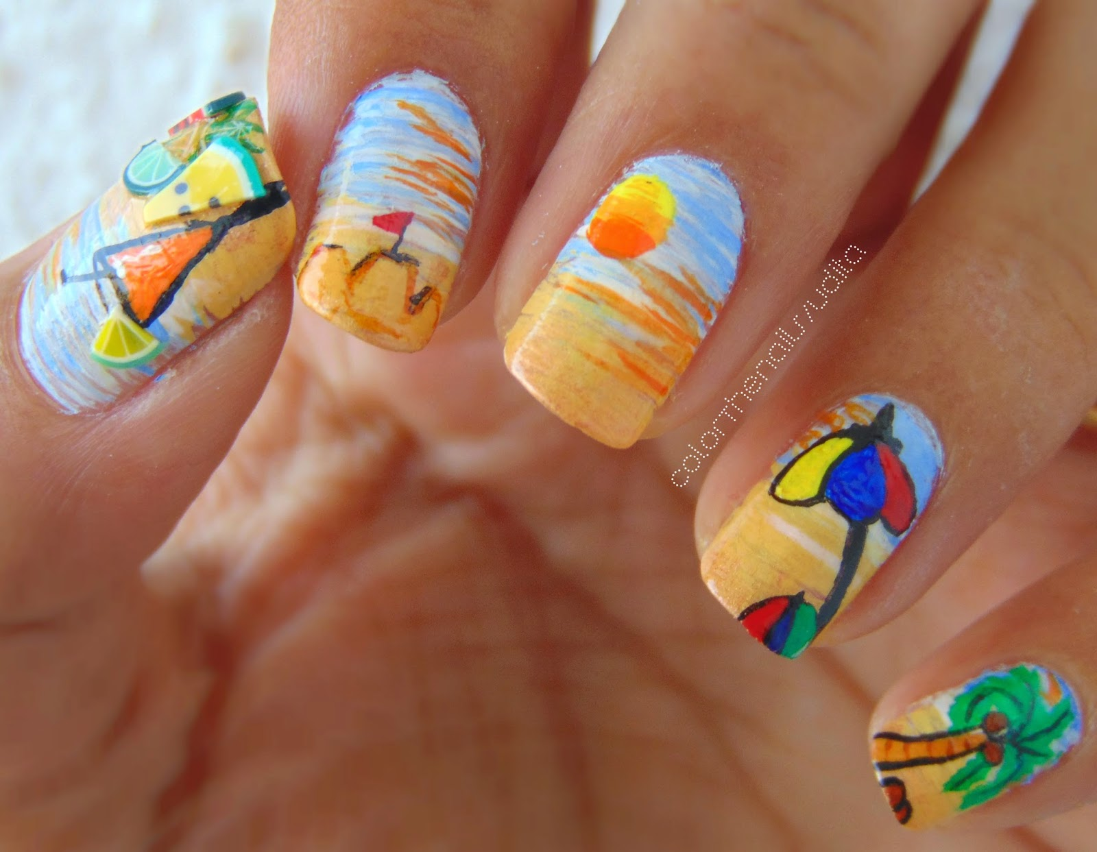 Summer Manicure (In Collaboration with Nailzfashionista) | Color The ...