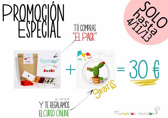 promocion curso online amigurumi gratis kit pack amigurumi sushi crochet ganchillo ganxet