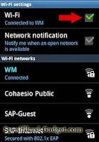 Koneksi ke Jaringan Wi-Fi - Samsung Galaxy Ace