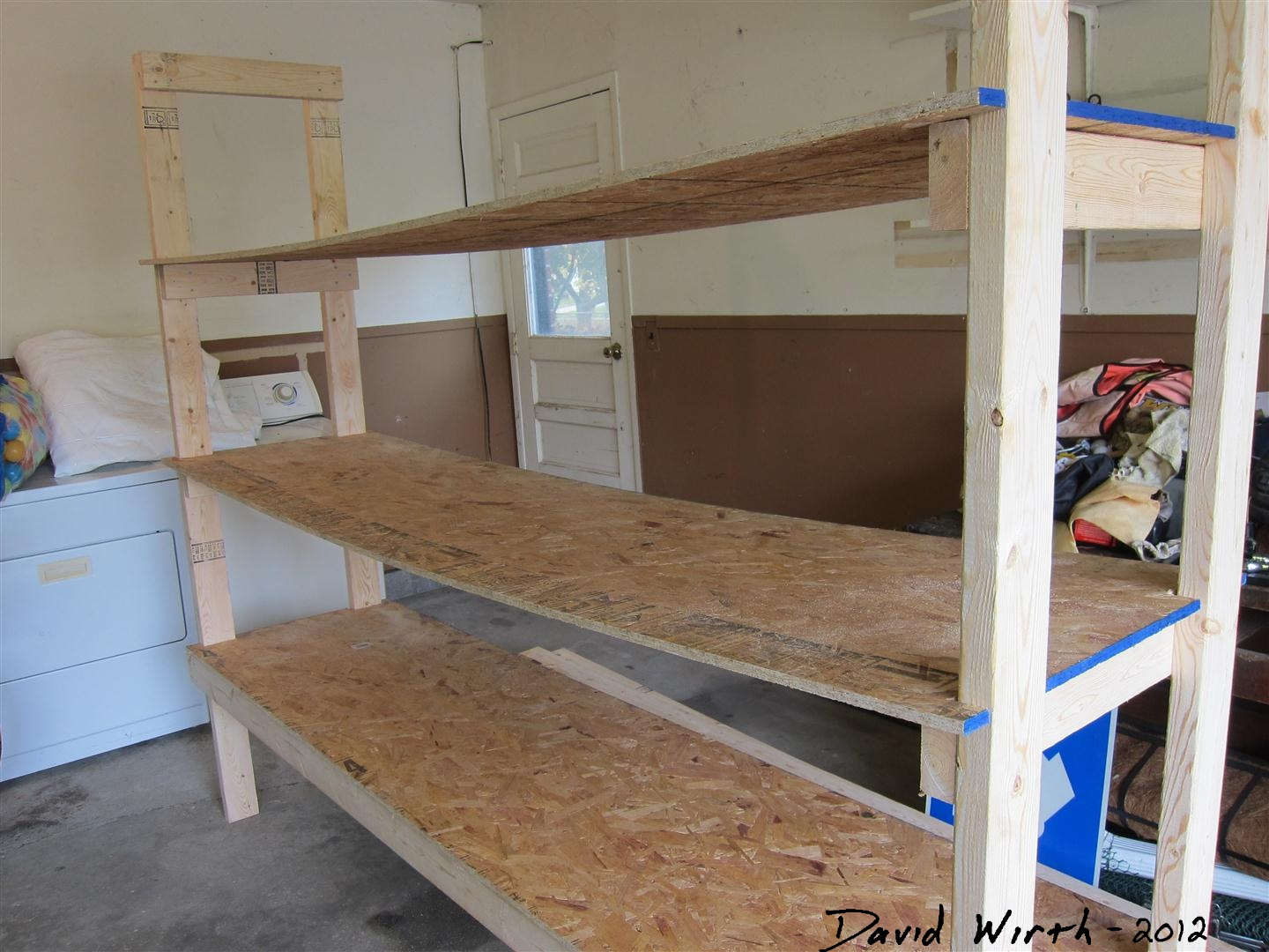 prefitting the shelf boards wobbly shelf i made & How to Build a Shelf for the Garage