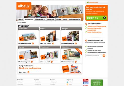 Bij Albelli.nl kun je naast fotoboeken ook terecht voor andere producten