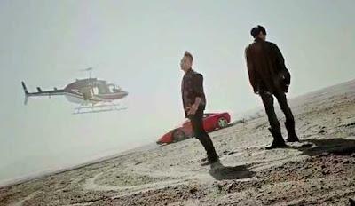 Tablo Taeyang Tomorrow helicopter sports car desert