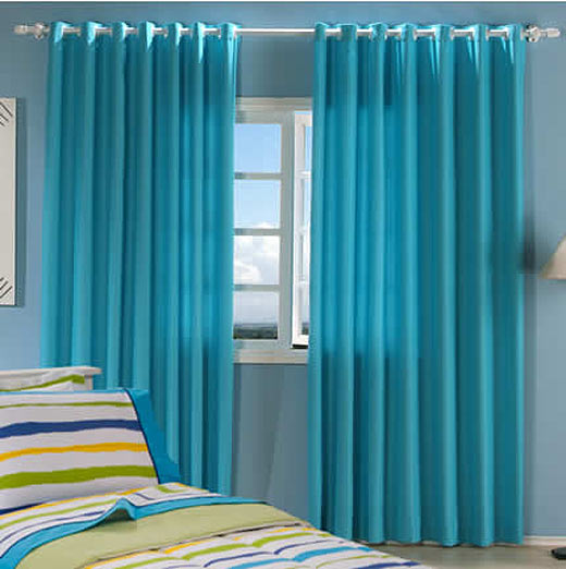S tio bela vista cortinas sala for Cortinas azul turquesa