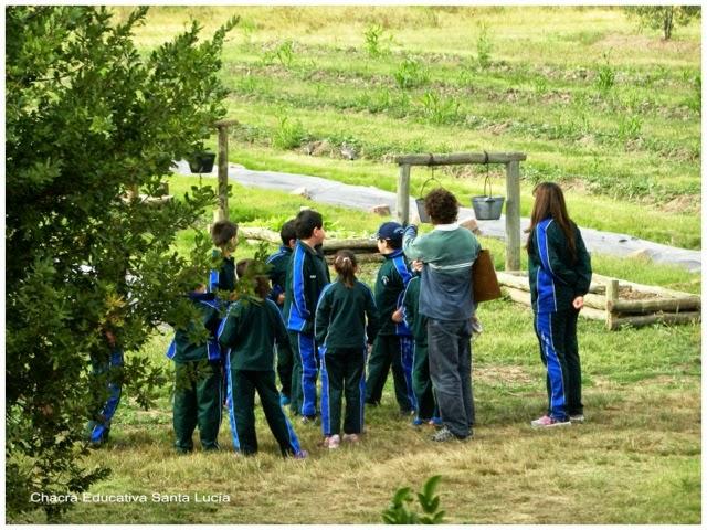 Recorrida con alumnos - Chacra Educativa Santa Lucía