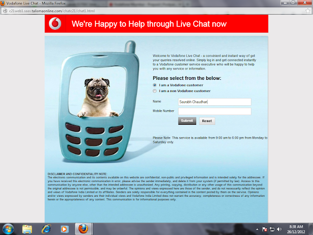 Vodafone Launches Live Chat With Customer Care
