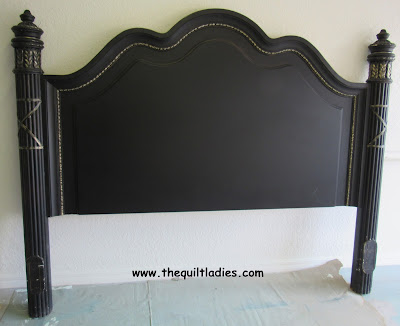 Painted black headboard white