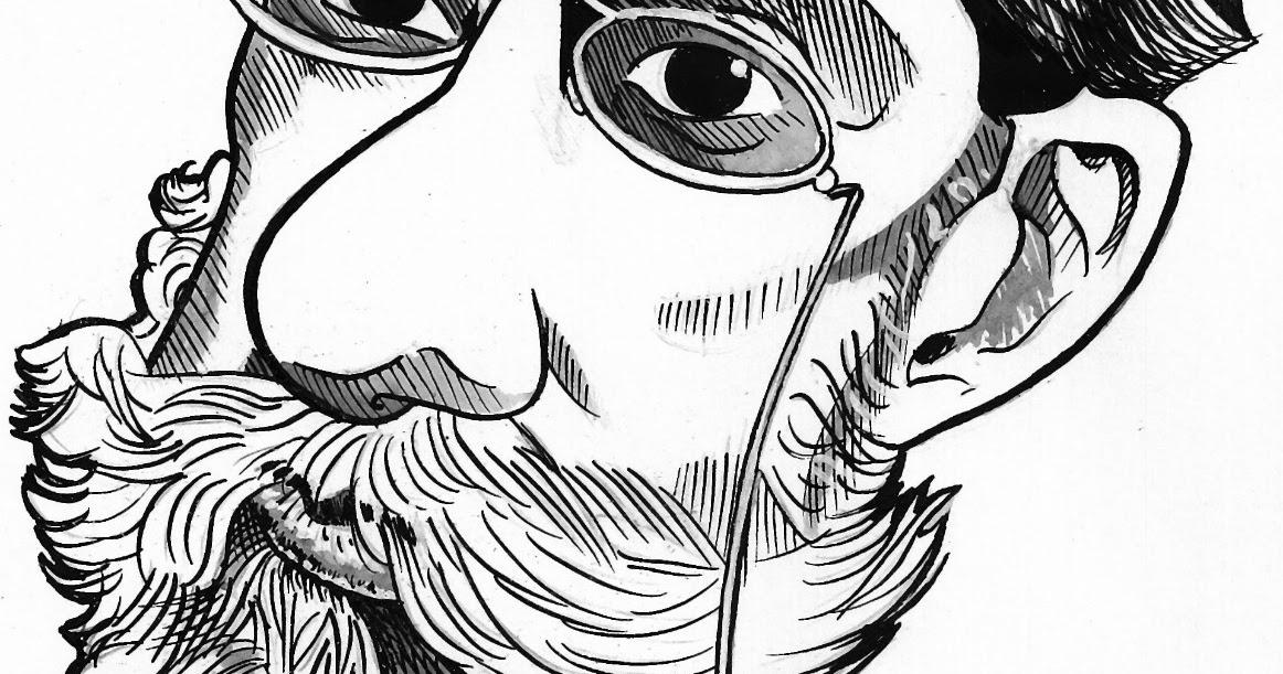 Resultado de imagem para Machado de Assis caricatura