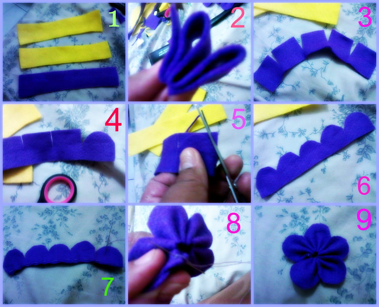 tutorial bunga three in one (kreasi flanel Reistya cRaft)