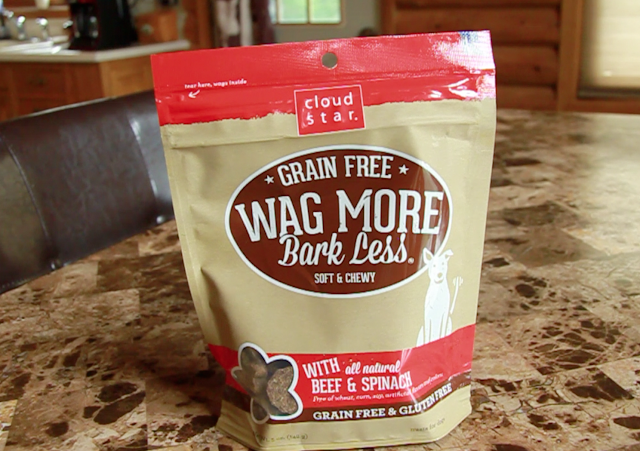 Grain free wag more bark less soft and chewy dog training treats with beef and spinach