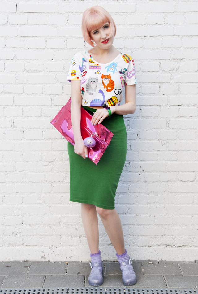 directions, pastel pink, lazy oaf, candy clutch