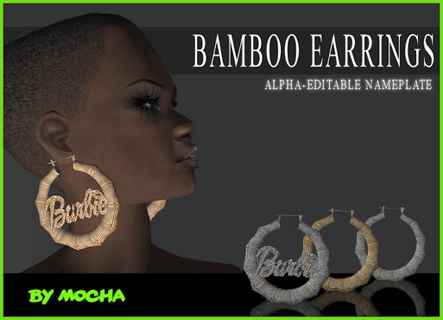 Bamboo Name Earrings3