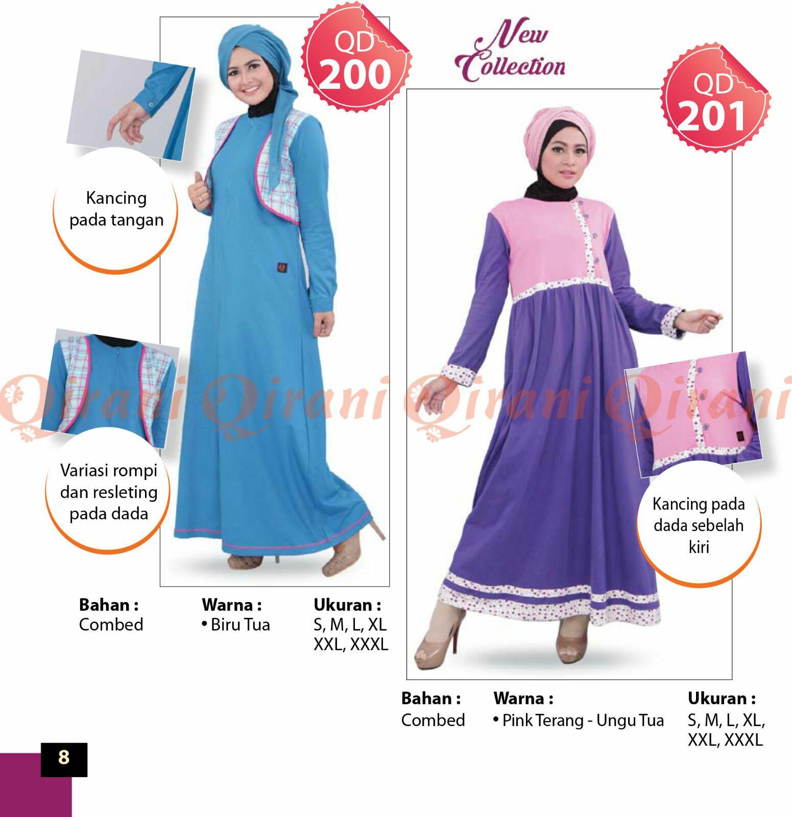 Busana Muslim Kaos Qirani Model Terbaru 2016