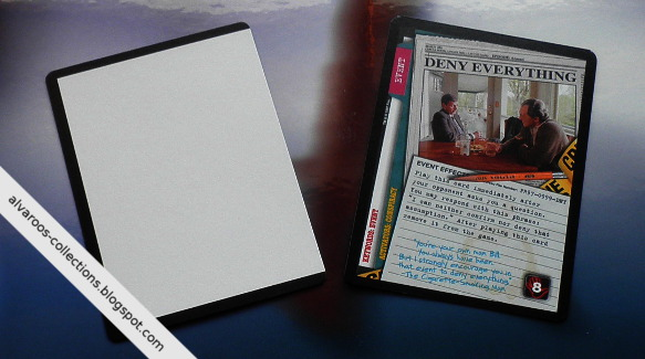 Files CCG - Ultra Rares  test blank card  amp  promo  Deny Everything X Files Deny Everything