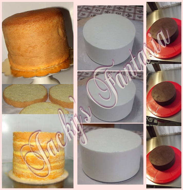 Stuccatura PERFETTA della torta! CREMA AL BURRO / GANACHE AL CIOCCOLATO