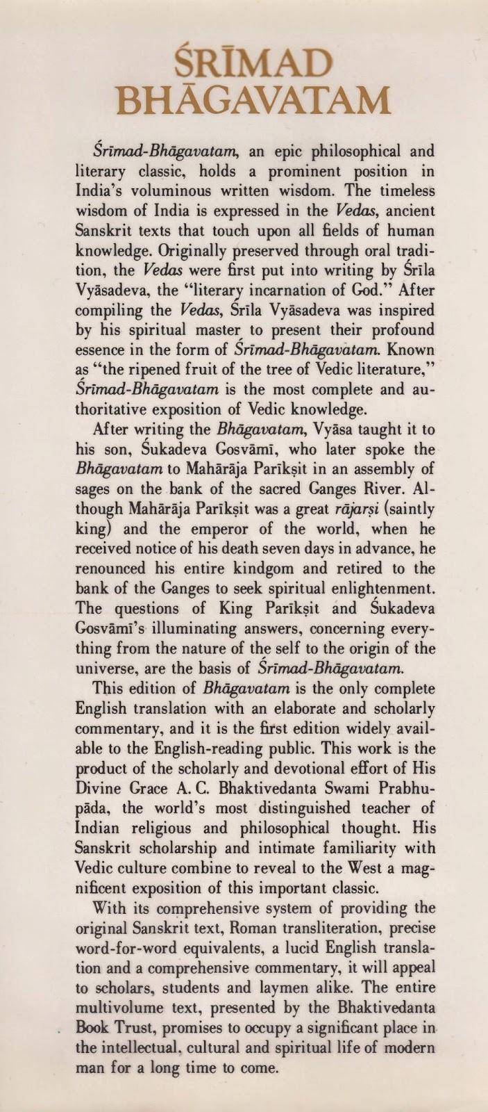SRIMAD BHAGAVATAM SANSKRIT PDF DOWNLOAD