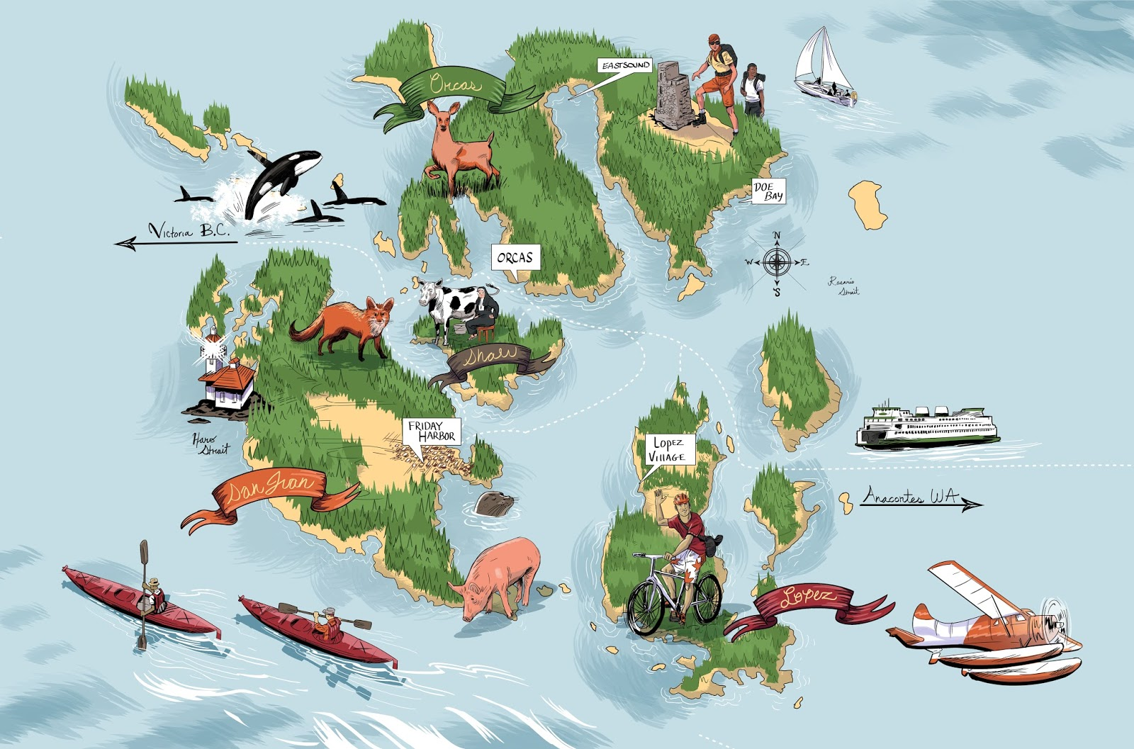 Joseph Laney Illustration Seattle Met Magazine Illustration San