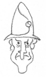 frowning elf like guy with tall hat