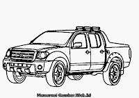 Mewarnai Gambar Mobil Suzuki Equator RMZ-4
