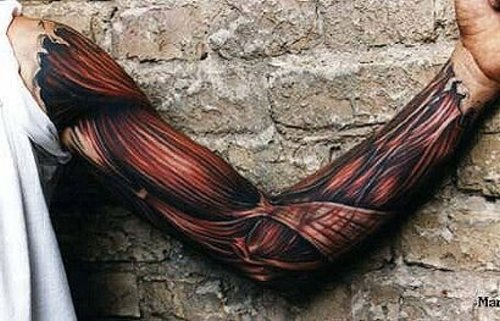 tattoos for men on forearm. Tattoos For Men on Arm Stand Out elbow_tat – His newest tattoo is a mutli