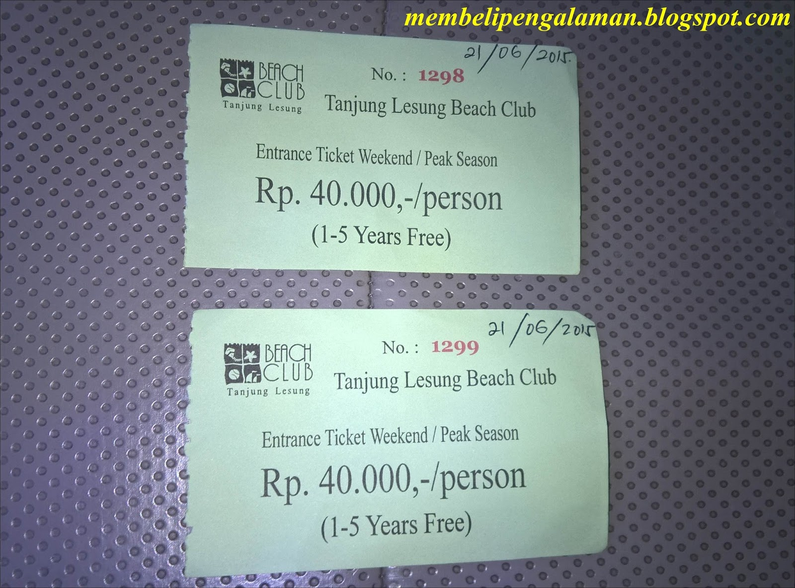 Tiket Masuk Weekend di area Tanjung Lesung Beach Club (include parkir ...