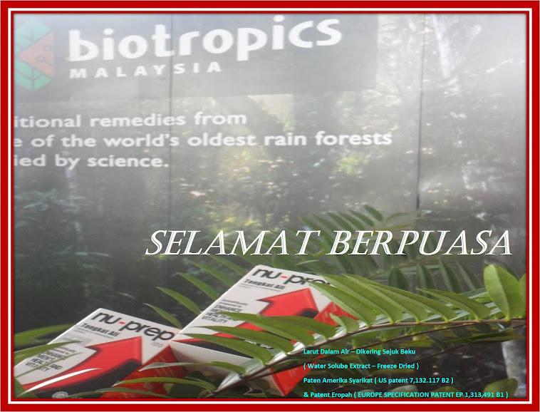 SELAMAT BERPUASA-Tulus Ikhlas, Biotropics Malaysia Berhad 'Bertenaga Menuju - Pembangunan Ummah'.