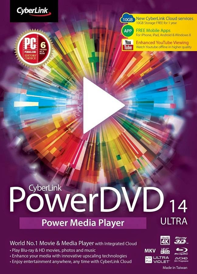 PowerDVD 14 Ultra Free Download Full Version