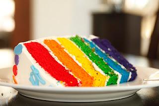 Gambar Resep Cara Membuat Rainbow Cake