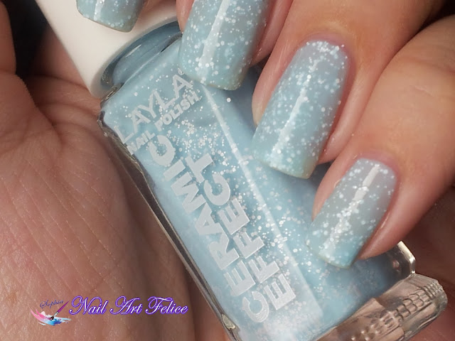 CE104 Celestial Pudding - Ceramic Sorbet Effect Layla - Swatch01 - Nail Art Felice