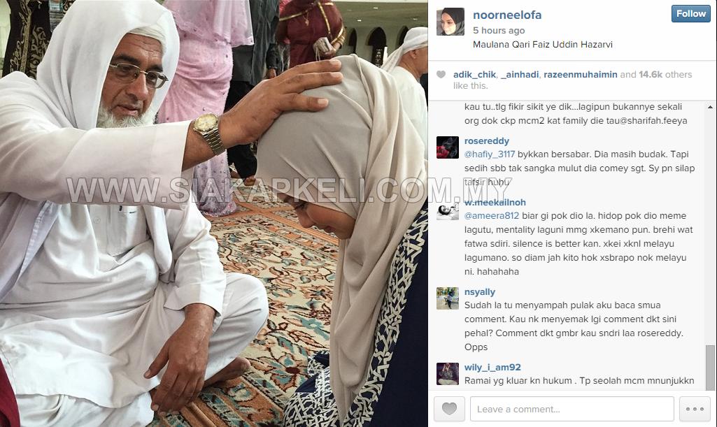 Gambar Neelofa Dikritik Adik Mengamuk di Instagram