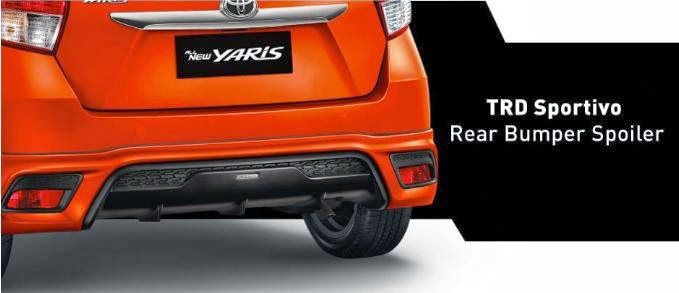 TRD Sportivo Rear Bumper Spoiler All New Yaris 2014