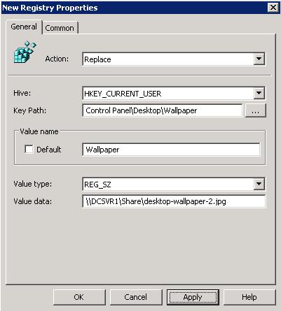 Configure Desktop Wallpaper Background through GPO