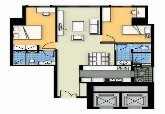 Mặt bằng căn hộ A4 chung cư 360 Giải Phóng
