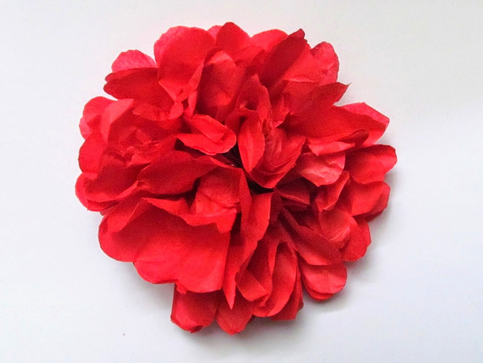 Totally Tutorials Tutorial How to Make a Tissue Paper Flower