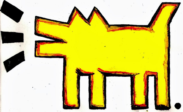 6792578064 d527cb18db z The social dog of Keith Haring