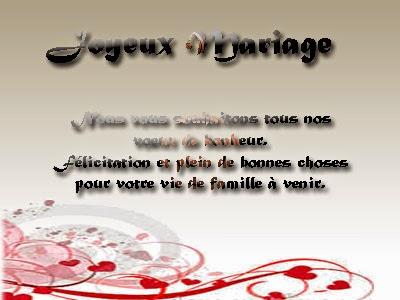 Cartes postales joyeux mariage