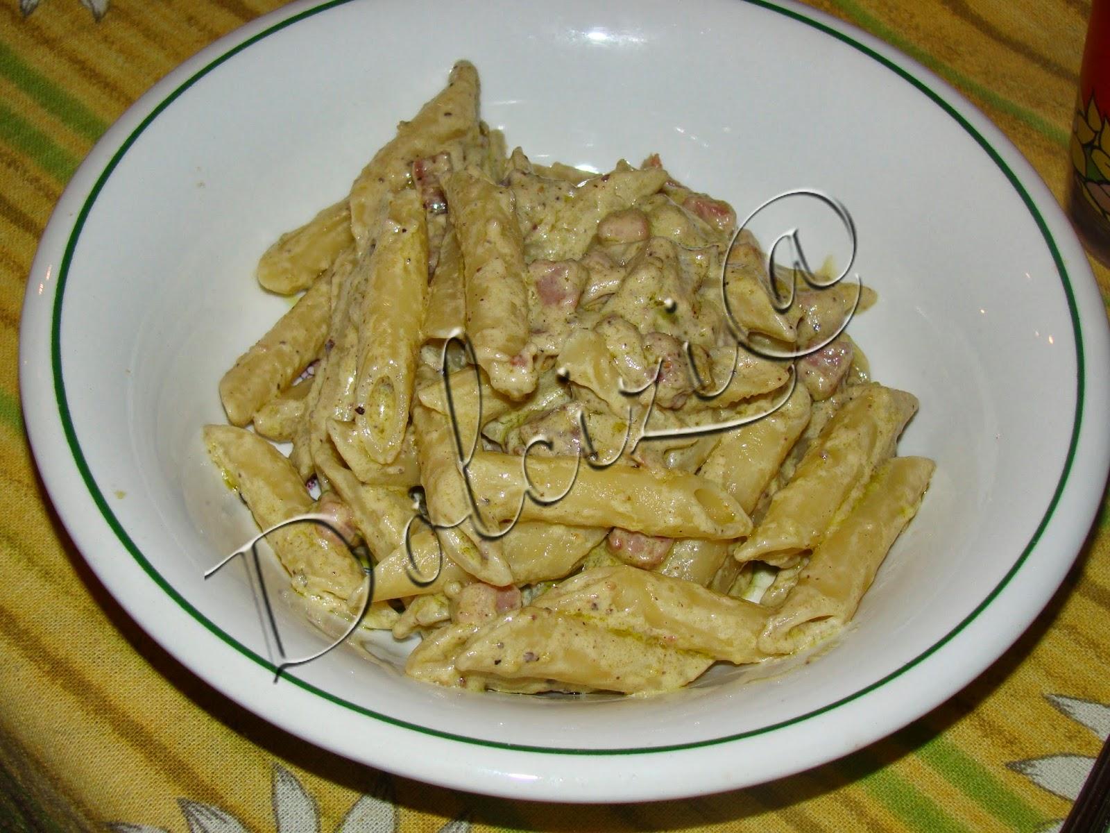 pasta con pesto di pistacchio