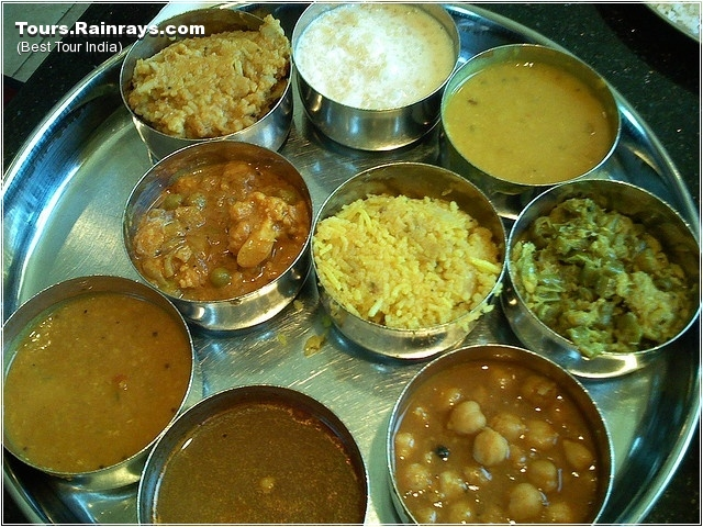 Tourist Attraction India: South Indian Food : Thali