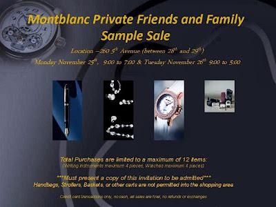 Montblanc Sample Sale
