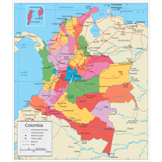 Map of colombia photos
