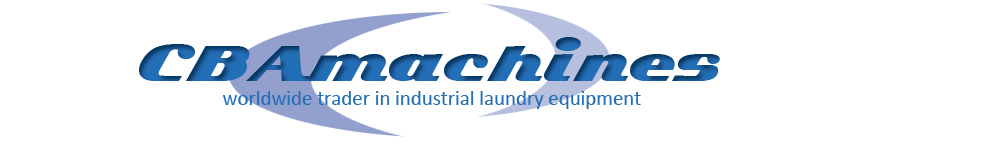 CBAmachines, worldwide trader in industrial laundry equipment.