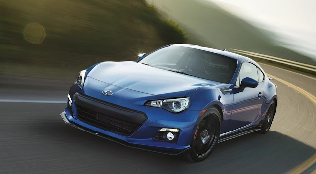Front 3/4 view of 2015 Subaru BRZ Series Blue