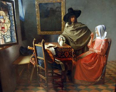 Il bicchiere di vino, il quadro del pittore olandese Jan Vermeer