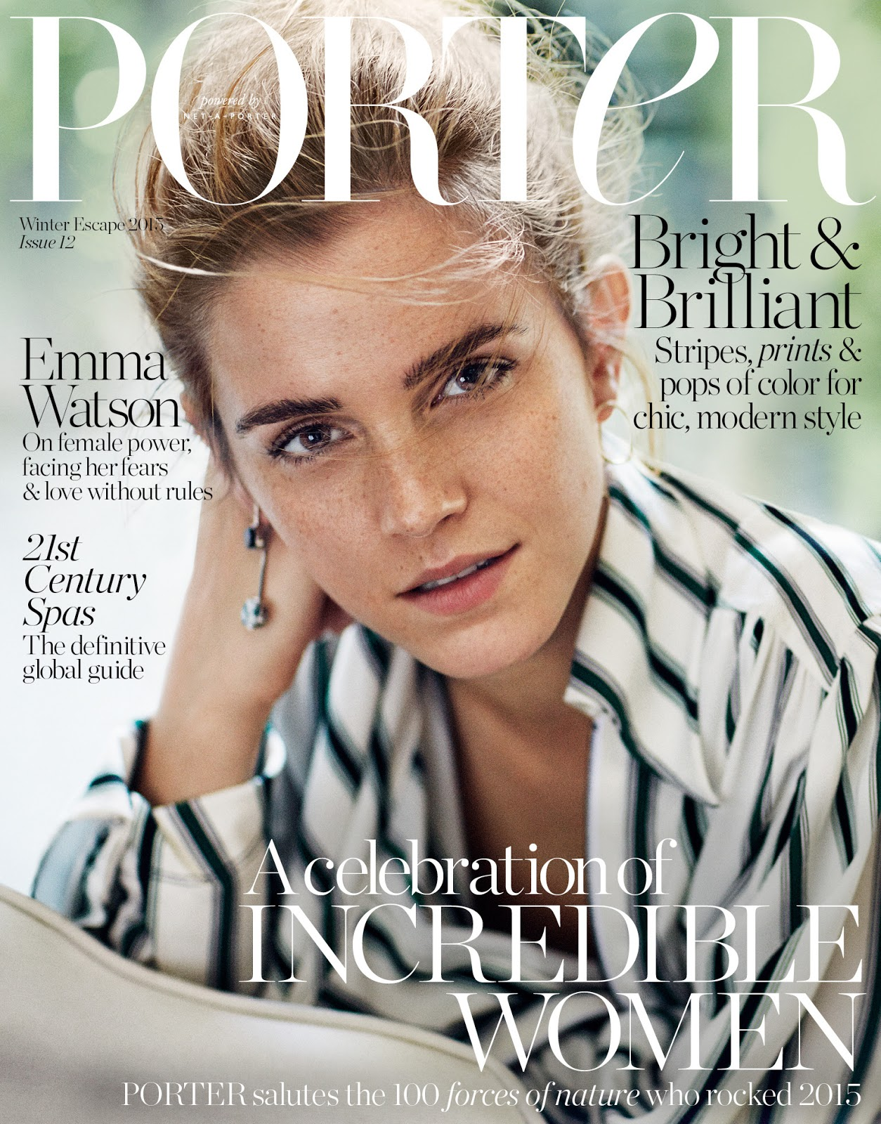 smile emma watson in porter magazine 12 winter escape 2015 by cass bird