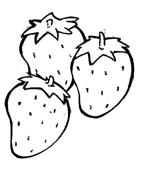 Strawberry Clip Art Black And White