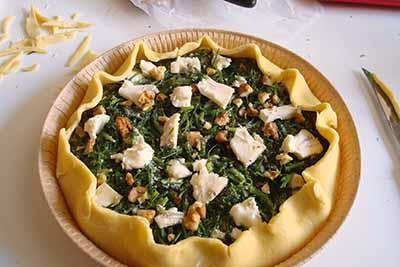 Torta salata agretti e gorgonzola 16
